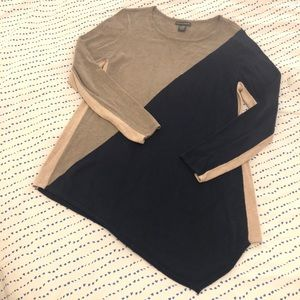 Chelsea & Theodore asymmetrical tunic sweater